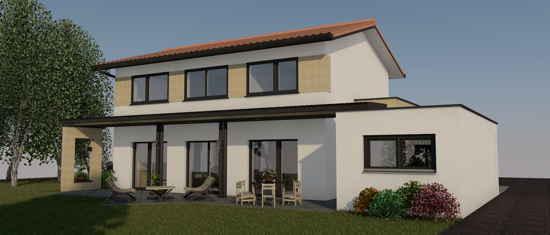 Canalette, vue 3D du projet de maison passive