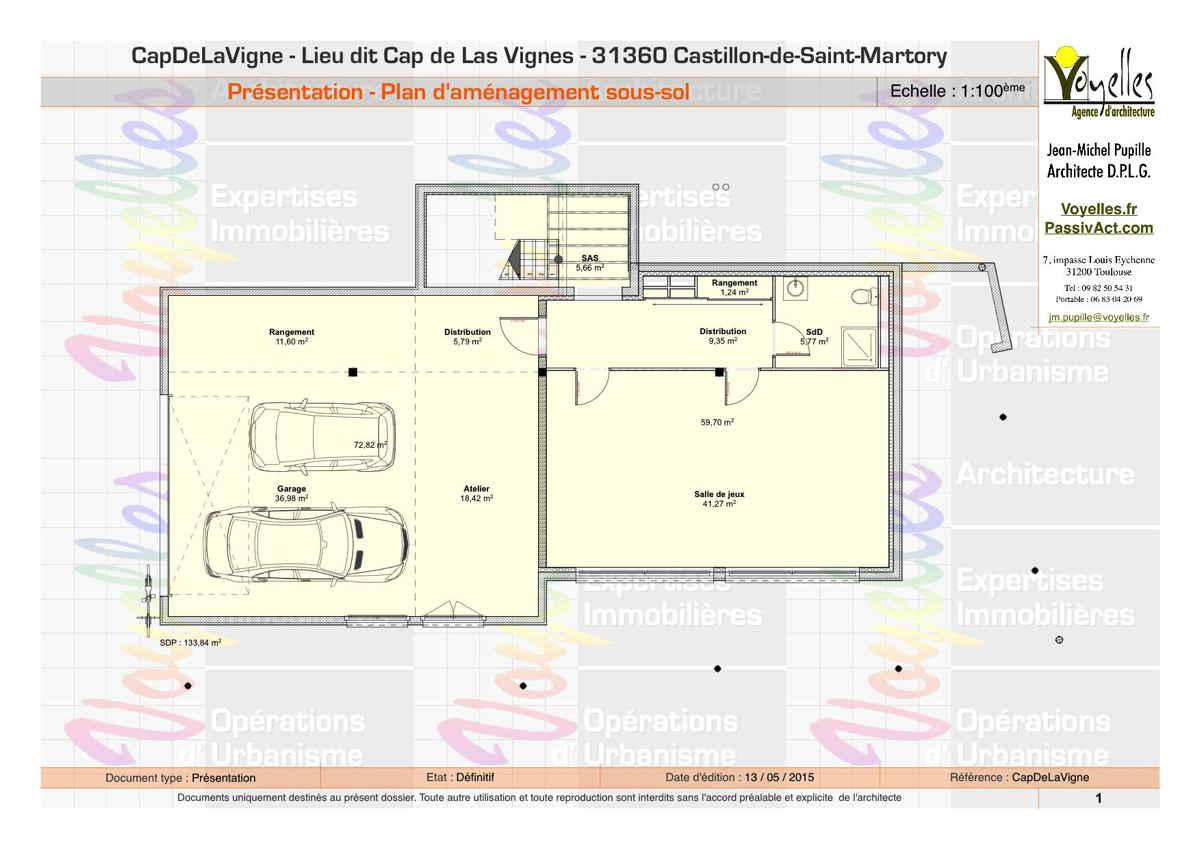 Maison passive CapDeLaVigne, plan du sous-sol