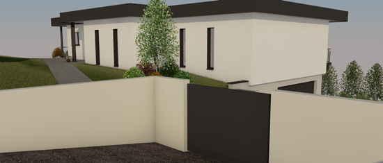 Maison passive CapDeLaVigne, vue 3D nord-ouest
