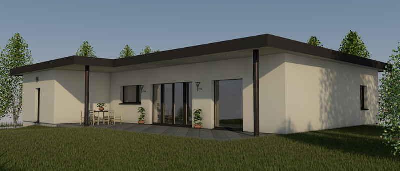 Maison passive Iris2016, vue 3D est