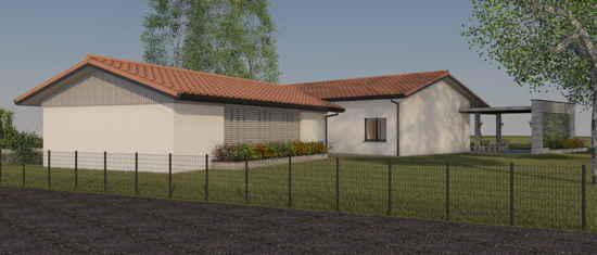 Maison passive LaCharentaise, vue 3D nord-ouest