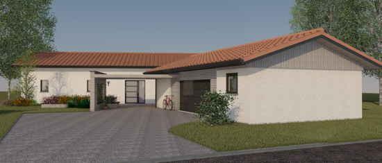 Maison passive LaCharentaise, vue 3D nord-est