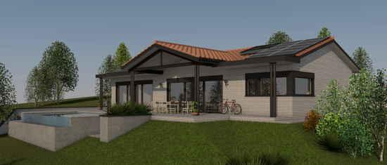 LaFonbresque, vue 3D du projet de maison passive
