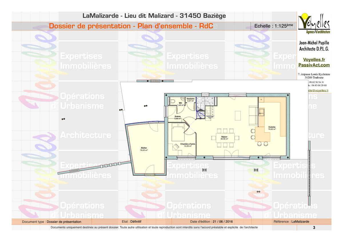 Maison passive LaMalizarde, plan du Rez-de-Chaussée
