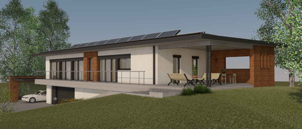 Maison passive LaPaulignoise, vue 3D sud-est