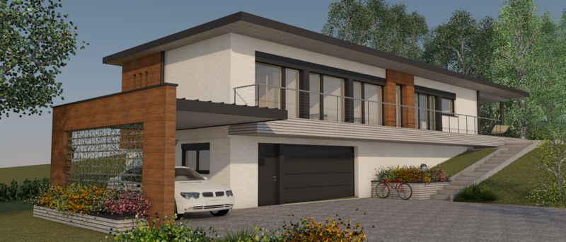 Maison passive LaPaulignoise, vue 3D sud-ouest