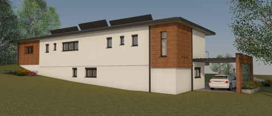 Maison passive LaPaulignoise, vue 3D nord-ouest