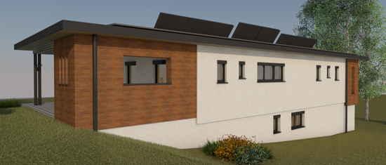Maison passive LaPaulignoise, vue 3D nord-est