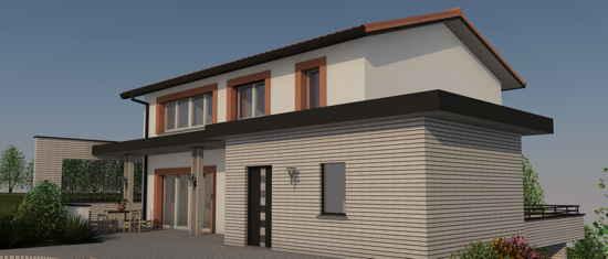 LaSeillonne, vue 3D du projet de maison passive