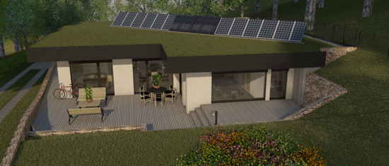 Lacassagne, vue 3D du projet de maison passive