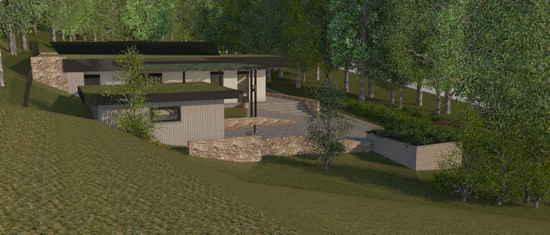 Maison passive Lacassagne, vue 3D nord