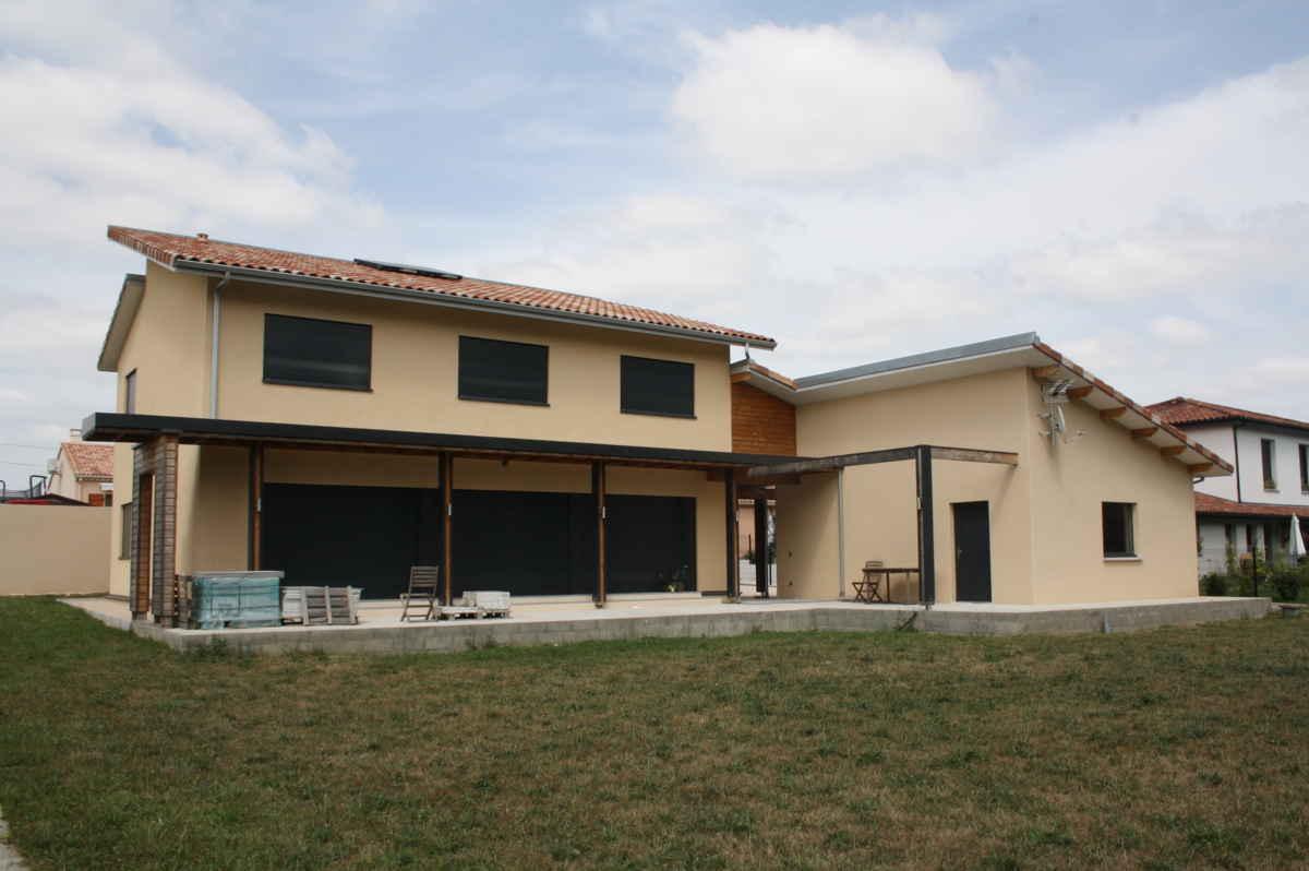 Maison passive Lascraberes, photo sud-ouest