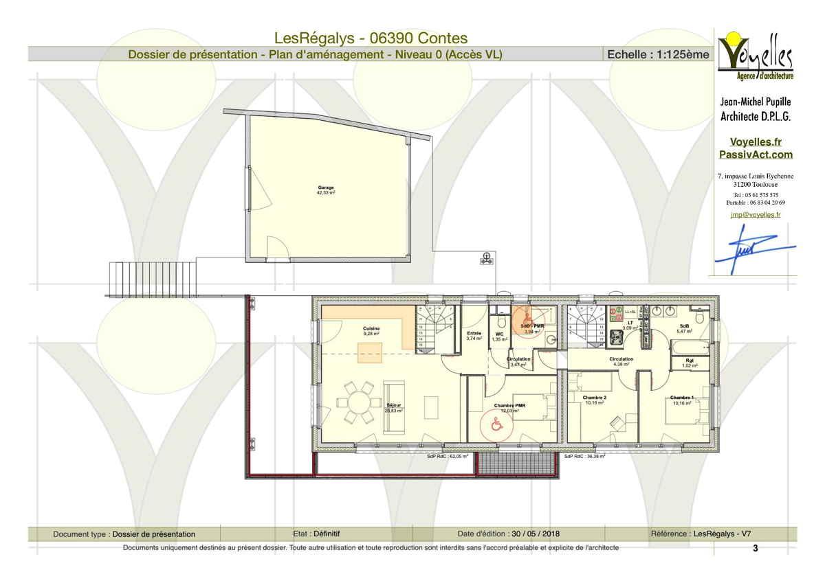Maison passive LesRégalys, plan de l'étage