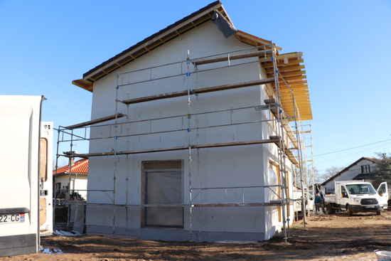 Maison passive LesTroizeces, vue 3D ouest