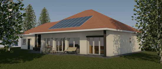 MaisonPassive64, vue 3D du projet de maison passive
