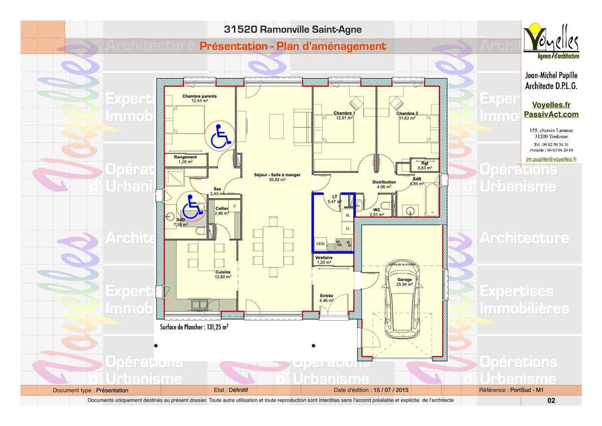 Maison passive PortSud-M1, plan du Rez-de-Chaussée
