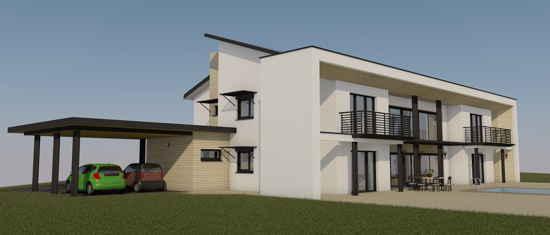 VillaErnest, vue 3D du projet de maison passive