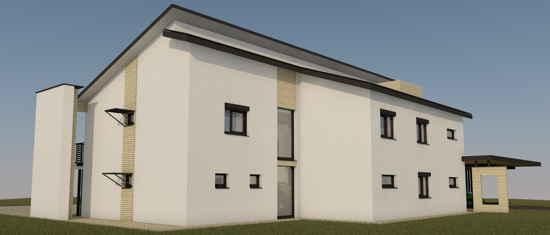 Maison passive VillaErnest, vue 3D nord-est